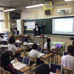 全校研究会で授業(3年算数「円と球」)を公開し、研究会をおこないました!