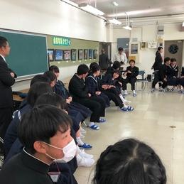 白川郷学園8年生のみなさんと交流(桑原学園8年生)