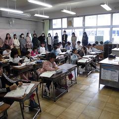 2年生 授業参観、学級懇談会
