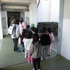 小熊保育園が水難訓練で本校に